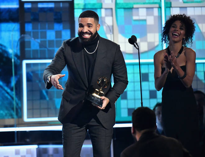 Drake picked up the award for 'Best Rap Song.'