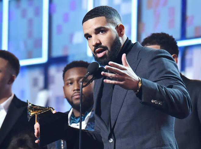 Drake accepts the Best Rap Song award for 'God's Plan' at the 61st Annual Grammys.