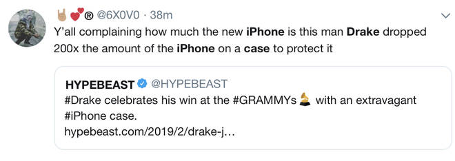 Fans joke about Drake ordering $400,000 iPhone Case