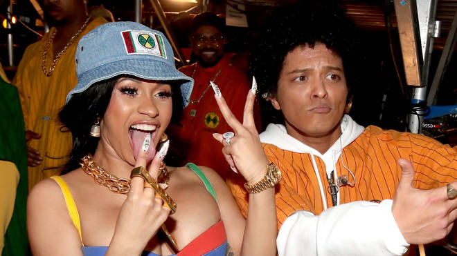Cardi and Bruno Mars link up for their new single 'Please Me.'