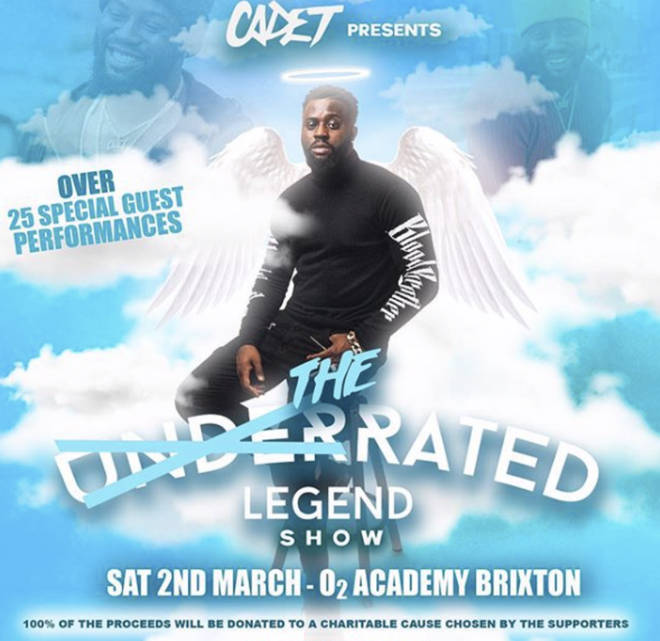 Cadet's loved ones put on a tribute show called 'The Rated Legend Show' in celebration of his life