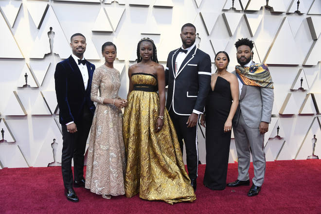 Some of the Black Panther cast gathers together for a picture