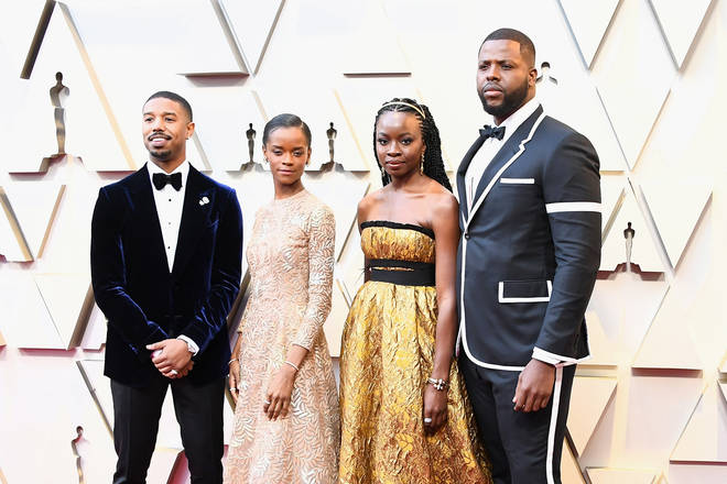 Some of the Black Panther cast on arrival at The Oscars
