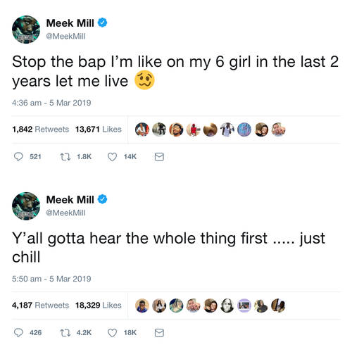 Meek responded to the rumours on Twitter.