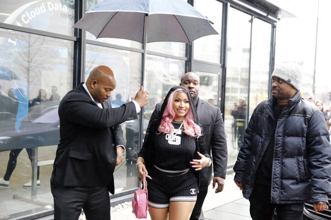 Nicki Minaj arrives to Tidal's Norway office to handle business