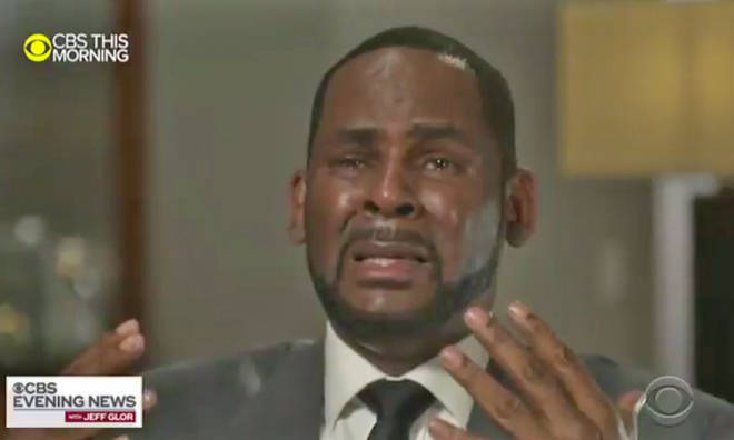 R kelly broke down during his interview with Gayle King