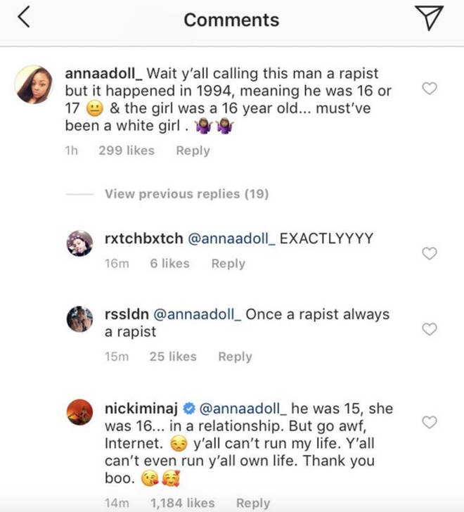 Nicki defends Kenneth Petty after fans come after him for rape conviction