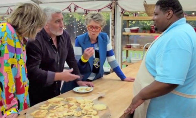 Big Narstie's GBBO biscuits went down a treat with Prue Leith