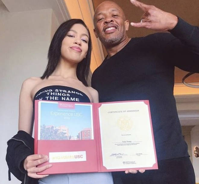 Dr Dre celebrates his daughter getting into USC 'on her own'