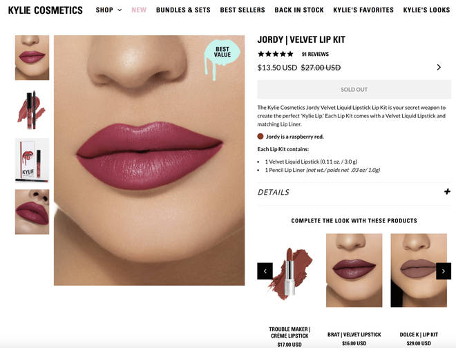 "Kylie Cosmetics put Jordyn Woods ""Jordy"" Lip Kit on sale amid cheating scandal"