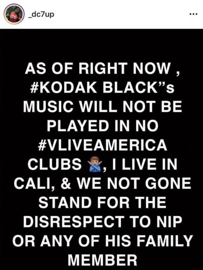 Kodak Black's music will no longer be played at popular club V Live