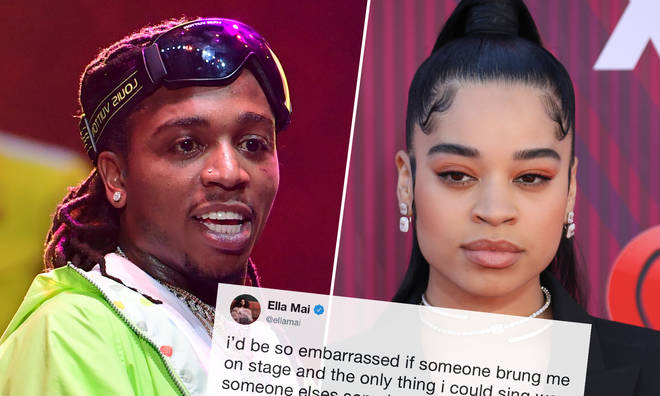 Jacquees clapped back at Ella Mai's tweet.