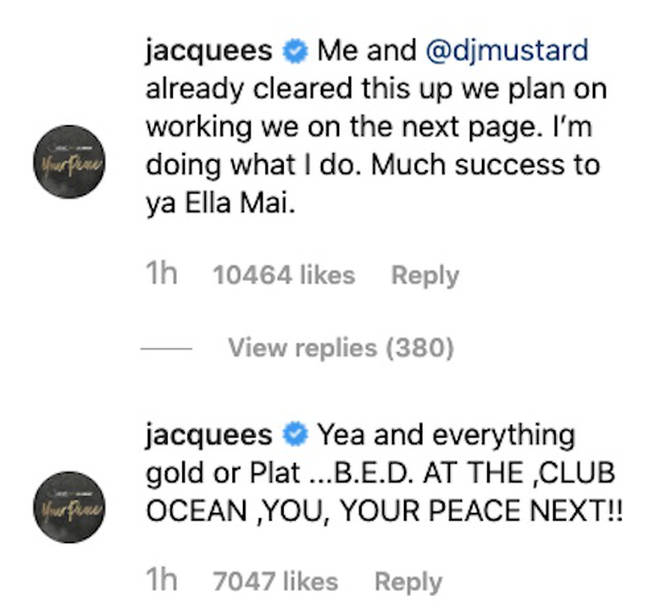 The R&B singer addressed Ella's tweet on Instagram.