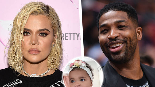 Khloé Kardashian & Tristan Thompson Reunite For Daughter True's First Birthday Party