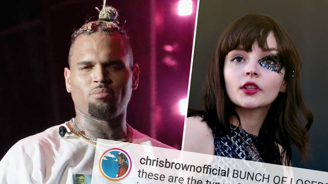 Chris Brown hit back at Chvrches after they slammed his abusive past.