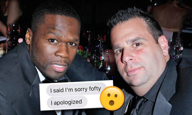 50 Cent trolls Randall Emmett with 'I'm Sorry Fofty' t shirts
