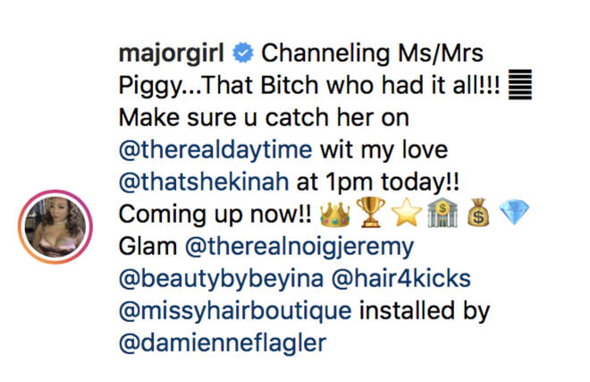 Harris referenced Kodak's 'Piggy' lyric about her.