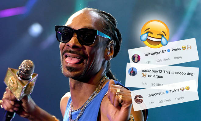 Snoop Dogg reposted a meme showing his canine look-a-like.