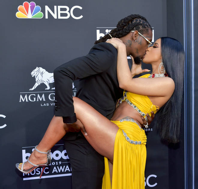 Cardi B and Offset put on a loved-up display at the Billboard Music Awards.