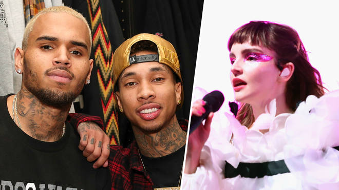 Fans of Chris Brown and Tyga have allegedly been sending Lauren Mayberry death threats.