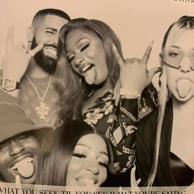 Megan, 24, was pictured partying with Drake, 32.