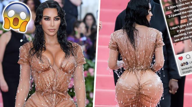 Kim Kardashian's Personal Trainer Defends Her Met Gala Cinched Waist Look