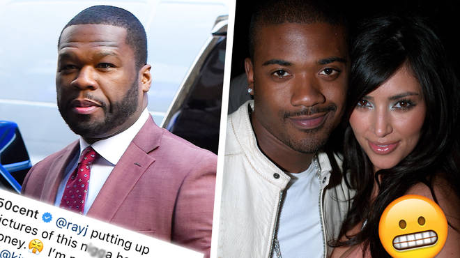50 Cent Just Roasted Ray J With A Savage Joke About Kim Kardashian