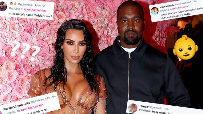 Kanye West & Kim Kardashian Fans Are Convinced The Couple Are Teasing Baby Name Through Emojis