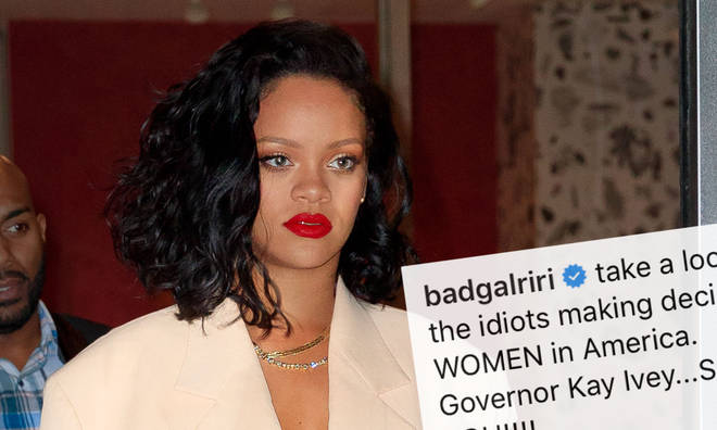 Rihanna slammed Alabama's female governor Kay Ivey for signing the anti-abortion law.