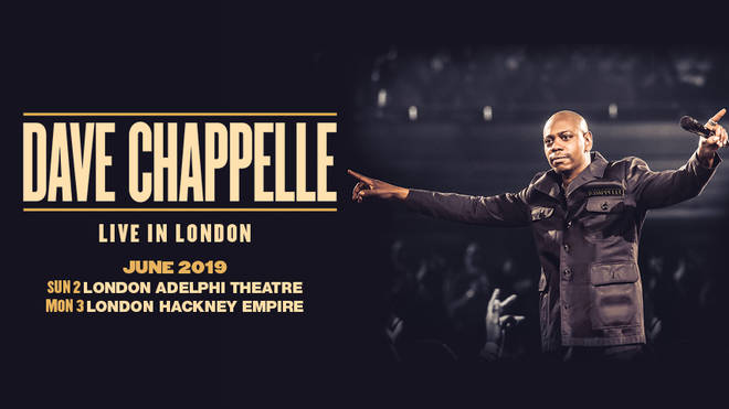 Dave Chappelle returns to London for two huge shows in 2019