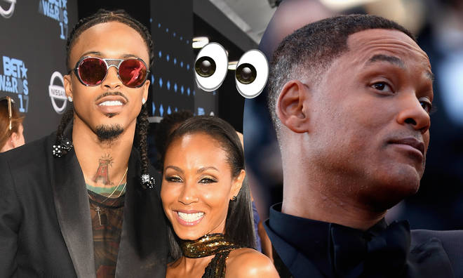 "August Alsina joked that Will Smith ""whooped"" him over the Jada cheating rumours."