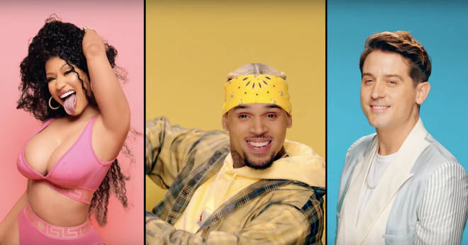 Nicki Minaj and G-Eazy appear in the music video for Chris Brown's 'Wobble Up', which been slammed by copyright claims.