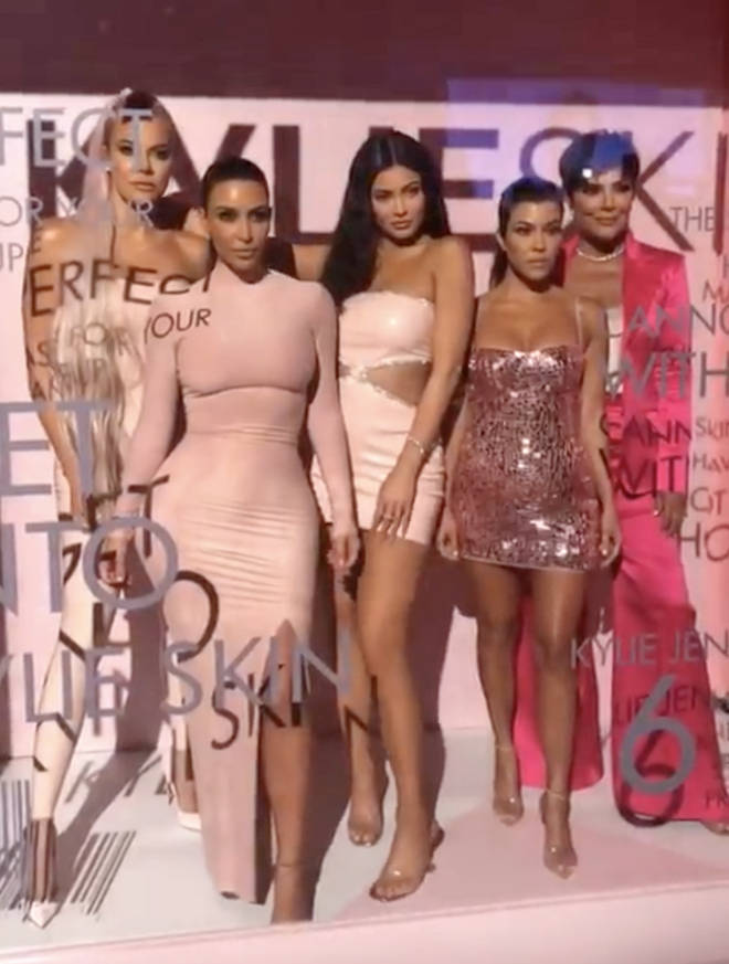 Kylie's sisters Khloe, Kim, and Kourtney and mother Kris Jenner were all in attendance.