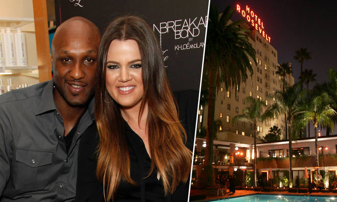 Lamar Odom claims his ex-wife Khloe Kardashian beat up a woman in his hotel room after finding them together.