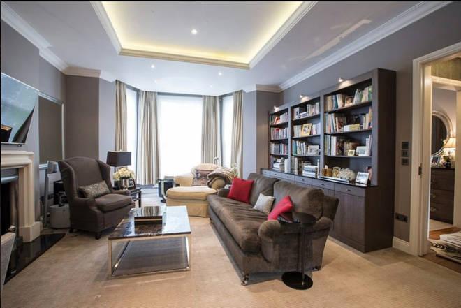 Rihanna's Mansion In North London - Living Room