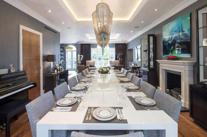 Rihanna's Mansion In North London - Dining Room