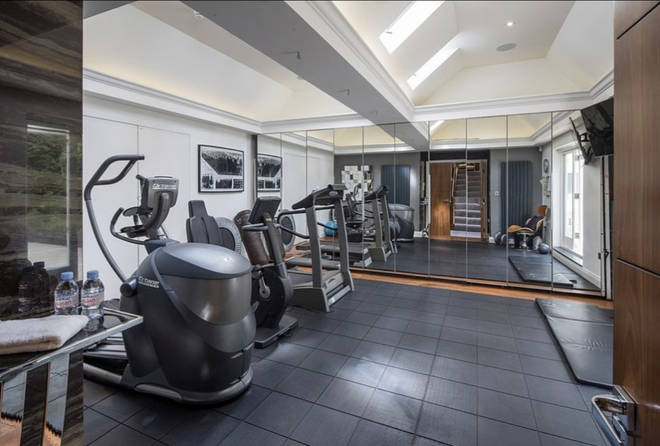 Rihanna's Mansion In North London - Gym