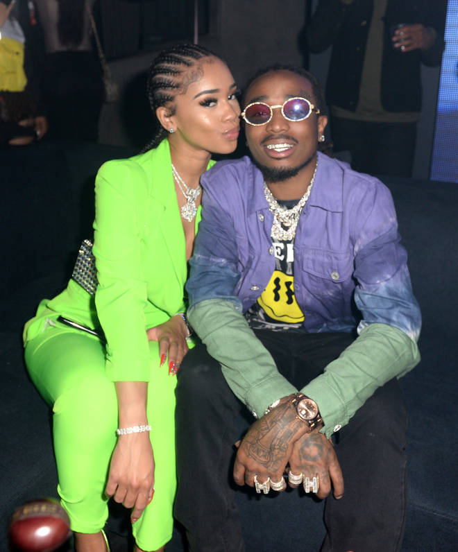 Quavo hinted that he's about to put a ring on girlfriend Saweetie's finger.