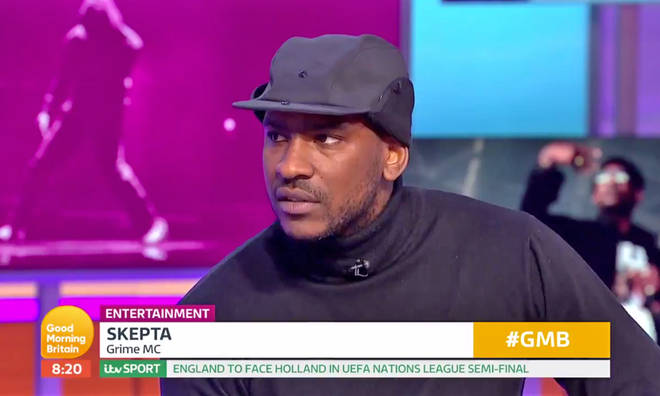 Skepta made an appearance on GMB to promote his new album 'Ignorance Is Bliss'