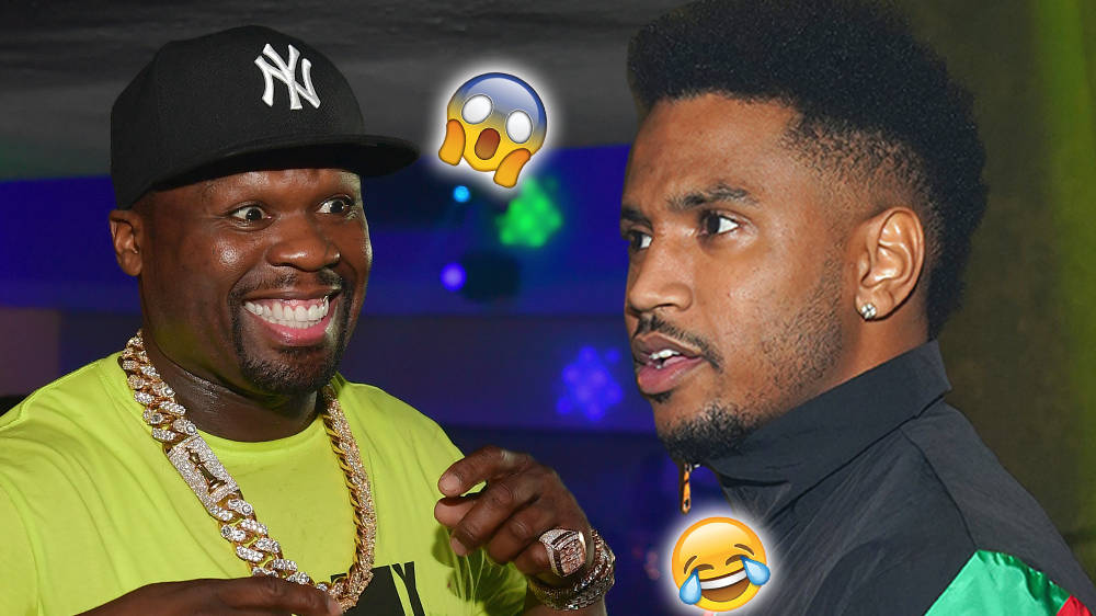 50 Cent Comes Face-To-Face With Trey Songz After Trolling Him On Instagram