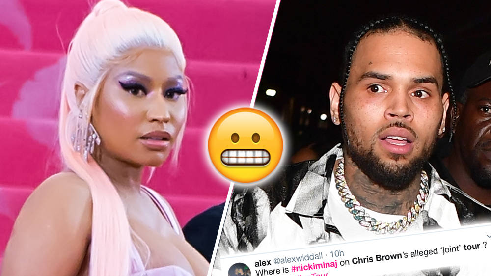 """Nicki Minaj Mysteriously """"Removed"""" From Chris Brown Tour Leaving Fans Confused"""