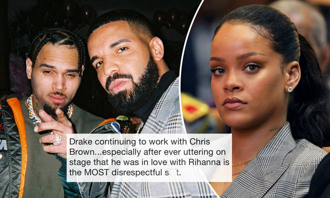Drake has been criticised for working with Chris Brown owing to his past with Rihanna.