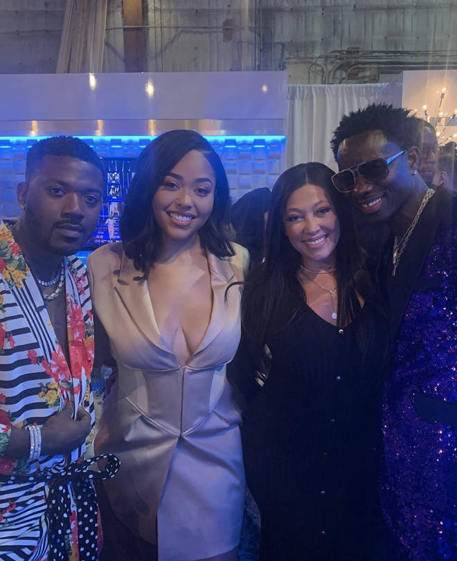 Jordyn's mother Elizabeth Woods posted a picture of the duo cosying up to Ray J.