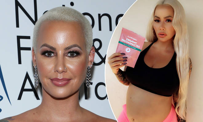 Amber Rose has been criticised for promoting a 'detox tea' while pregnant.