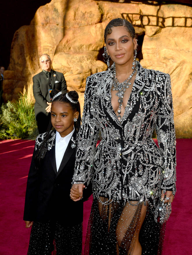 Beyoncé, who voices Nala in new 2019 'The Lion King' remake, was accompanied by her daughter Blue Ivy at the premiere.