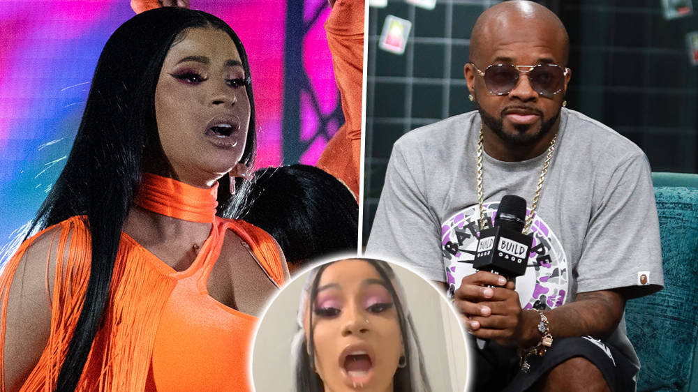 """Cardi B Furiously Slams Jermaine Dupri For Comparing Female Rappers To """"Strippers"""" - WATCH"""