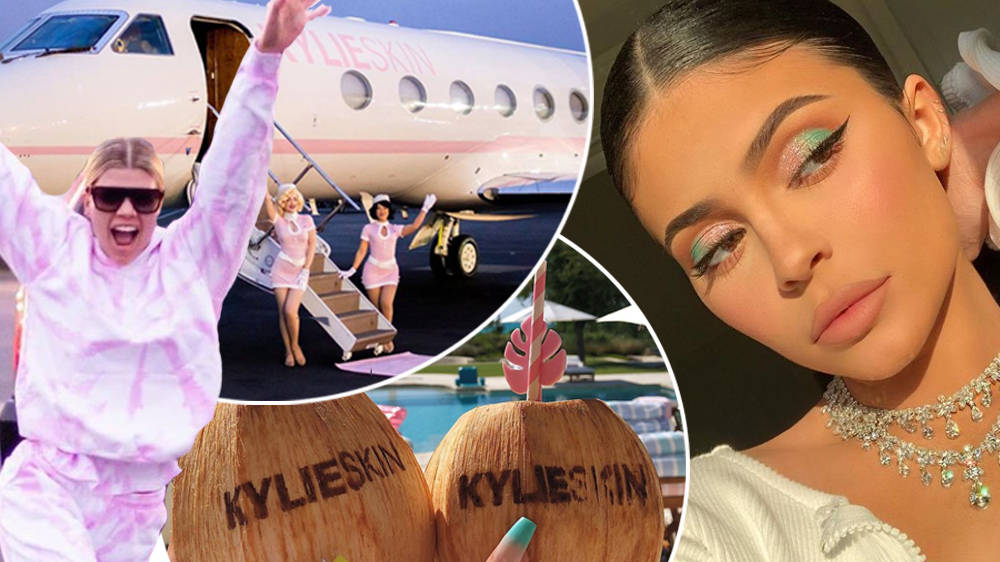 Kylie Jenner Hosts Boujee Party On Private Jet To Celebrate Her Skincare Range