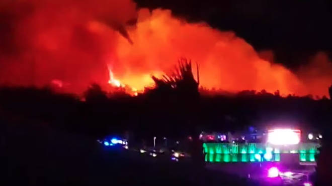 The blaze broke out near Fresh Island festival in Croatia