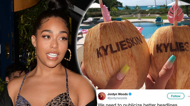 Jordyn Woods has spoken out about her 'response' to Kylie Jenner's trip