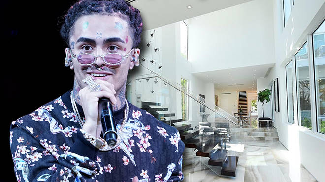 Lil Pump posts a video of his mansion tour on Instagram